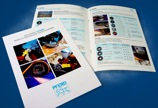 design de folders catalogos panfletos flyers